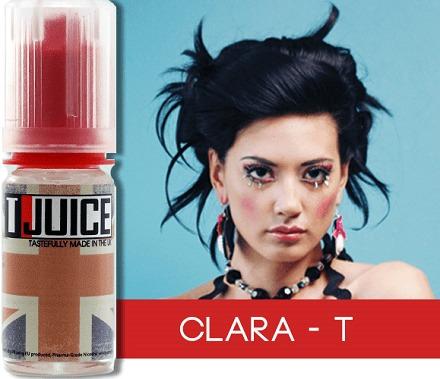 arome eliquide clara t de t-juice mélanger avec une base pg/vg et booster de nicotine