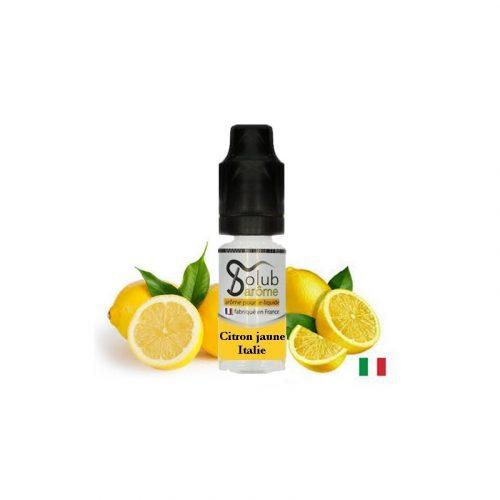 arome et liquide solubarome citron jaune italie