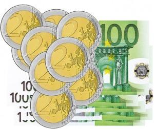 image billets de 100 euros et pieces de deux euros page programme de fidélité labellevape.fr