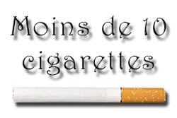 taux de nicotine pour moins de 10 cigarettes