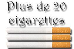 taux de nicotine pour plus de 20 cigarettes
