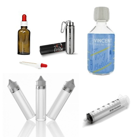 flacons et accessoires pour faire son e liquide de base nicotinée