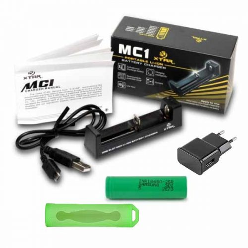 pack chargeur accu 18650 pas cher