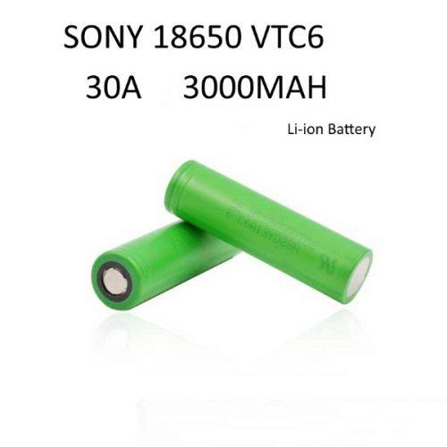 accu sony vtc6 18650 30A 3000mah pour vapoteur expert utilisant des dripper