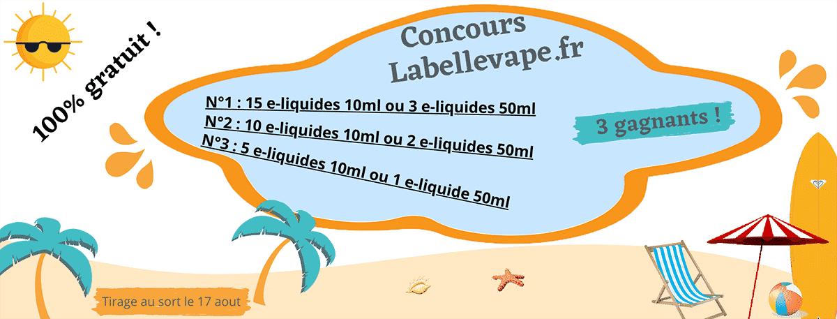 concours e-liquide labellevape été 2020