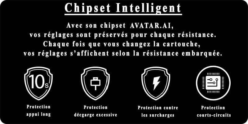 chipset intelligent du pod obliq joyetech