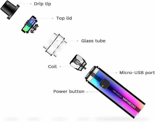 détails du kit e-cigarette